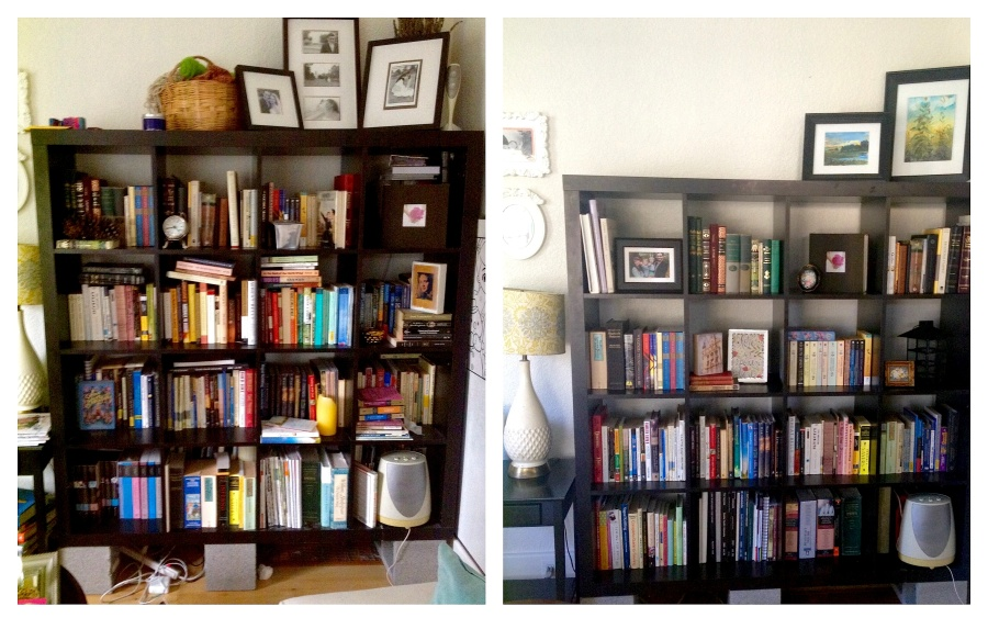 Bookcase Before After