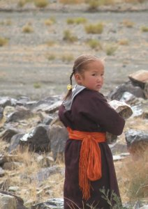 mongolian girl with dell